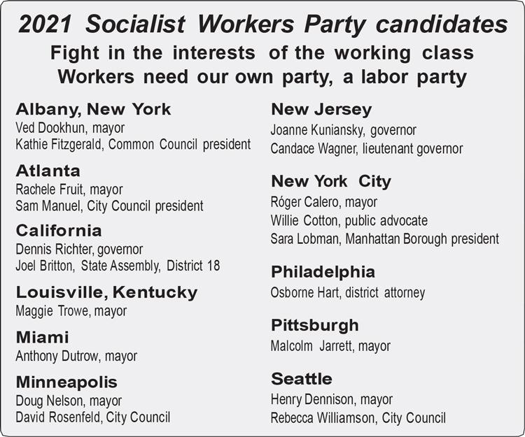 2021 Candidate List