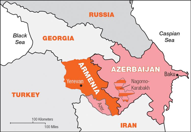 Armenia-Azerbaijan Map