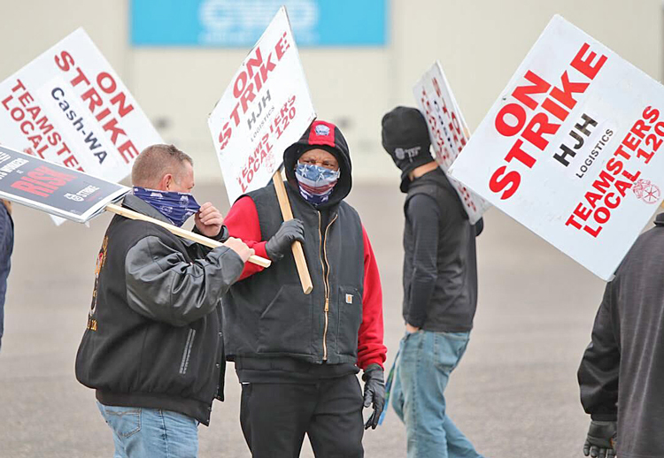 Some 70 workers in Teamsters Local 120 struck Cash-Wa, a Fargo, North Dakota, food distribution service Nov. 18 over stalled contract talks and unsafe working conditions.