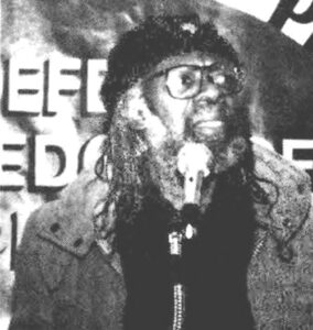 Cliff Joseph at 1988 meeting on the mural.