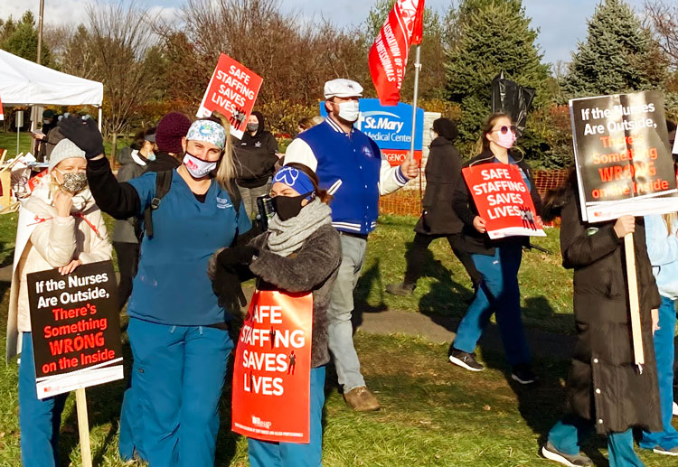Pennsylvania nurses strike over patient safety, wages