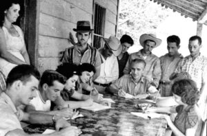 """In Cuban 1961 literacy campaign 250,000 mostly young people taught workers and peasants to read and write, including in the remotest regions. """"Although the aggressiveness of the U.S. began very early — through pressure and threats, attacks, bombings, financing armed gangs, and a fierce media campaign — the revolutionary government did not neglect to advance Cuban culture,"""" Abel Prieto, former Minister of Culture, wrote in Granma Dec. 4."""