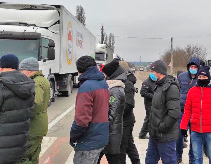 As part of strikes across Ukraine demanding back wages, uranium miners blocked major highways in Kirovograd Dec. 16. Coal miners, nurses and others are fighting over wages, conditions.