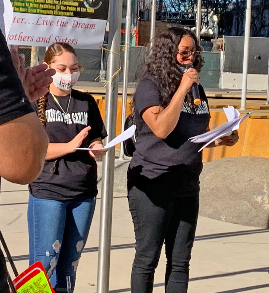 Rally at City Hall in San Jose, California, demands freedom for Carlos Harris, framed up and jailed on murder charges.