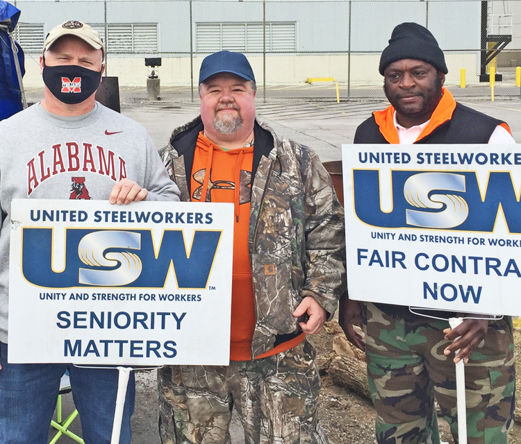 Jan. 2 Constellium picket line in Muscle Shoals, Alabama.