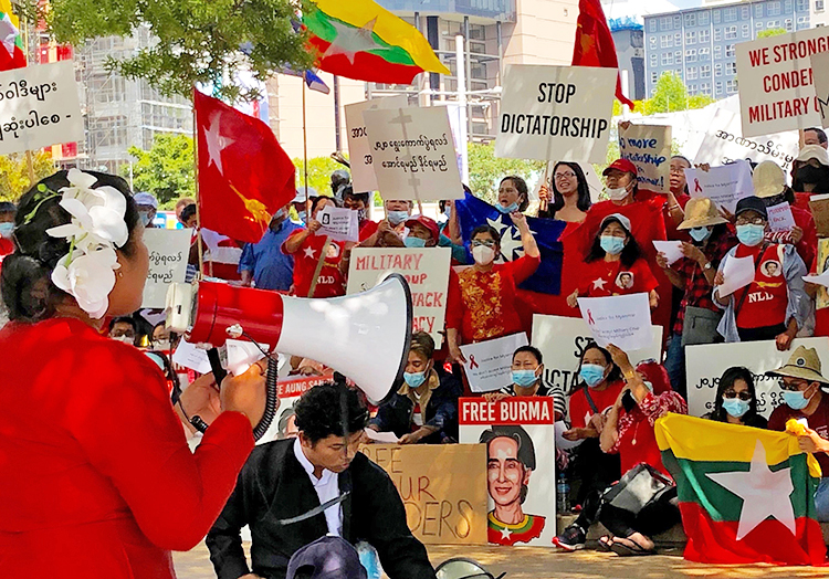 New Zealand rally: 'No to military takeover in Myanmar'