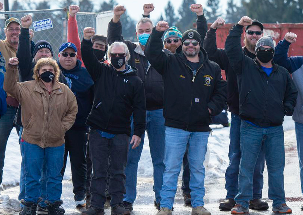 Thirty-five Teamster members went on strike Feb. 5 in South Whitehall Township, Pennsylvania, demanding bosses back off raise in their health insurance costs that would cut their wages.