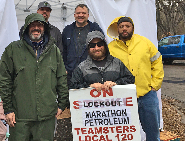 Locked-out Marathon Petroleum workers stand strong