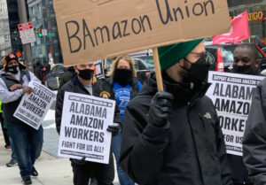 Rally in Philadelphia Feb. 20 backs Amazon workers' fight to win a union in Bessemer, Alabama. Key is to rely on the strength of the workers themselves, backed by working-class solidarity.