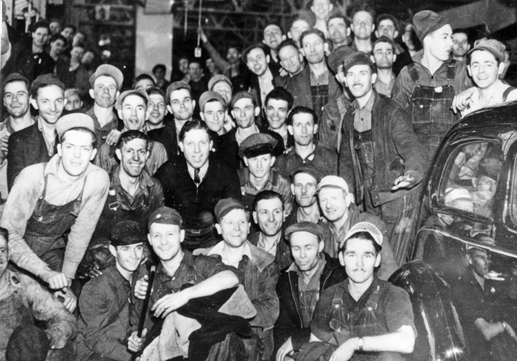 Sit-down strike by autoworkers in 1937 at General Motors in Flint, Michigan, was part of strike wave during 1930s Depression that built Congress of Industrial Organizations and posed need, and potential, for a party of labor to advance the class struggle onto the political plane.