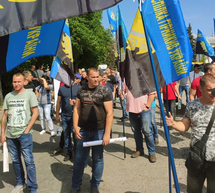Uranium miners in Ukraine protest in Kyiv, the capital city, June 16, demanding back pay owed for April and May and safe working conditions. Following action, government paid the wages.