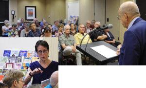 Steve Clark, dirigente del PST, habla en foro en Atlanta el 26 de junio sobre cómo el partido pasó la prueba de la crisis capitalista y la pandemia haciendo campaña entre los trabajadores. Izq., Mary-Alice Waters habla durante el debate.