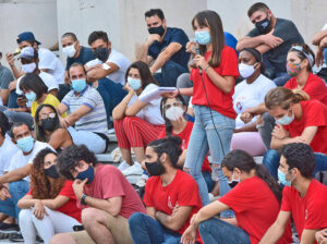 Students, workers, farmers discuss road forward with Cuban President Miguel Díaz-Canel in Havana Aug. 5. Gov't is organizing to take on economic challenges, impact of U.S. embargo.