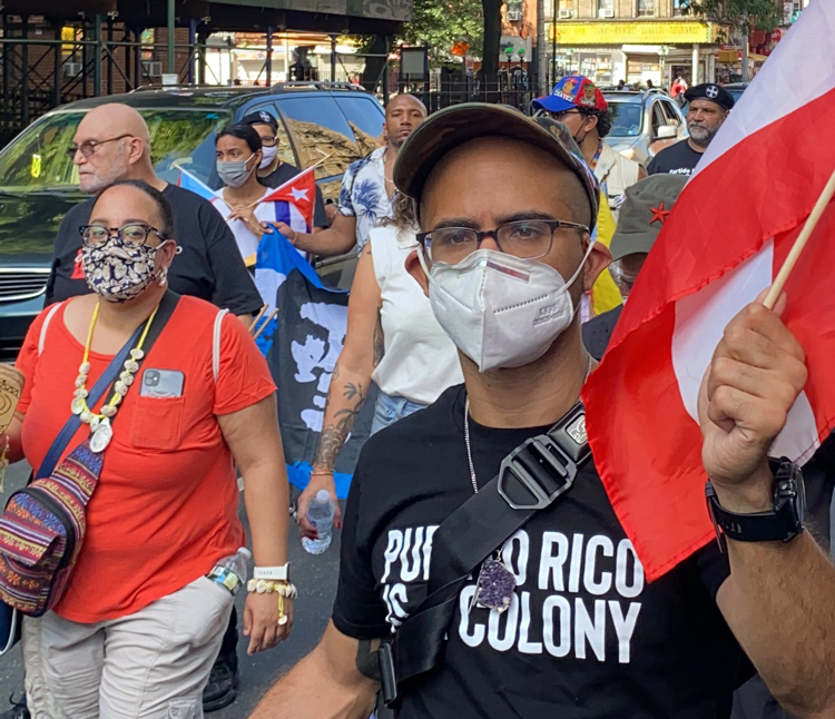 New York City march Aug. 15 protests U.S. colonial rule in Puerto Rico. Actions also took place in several other cities.