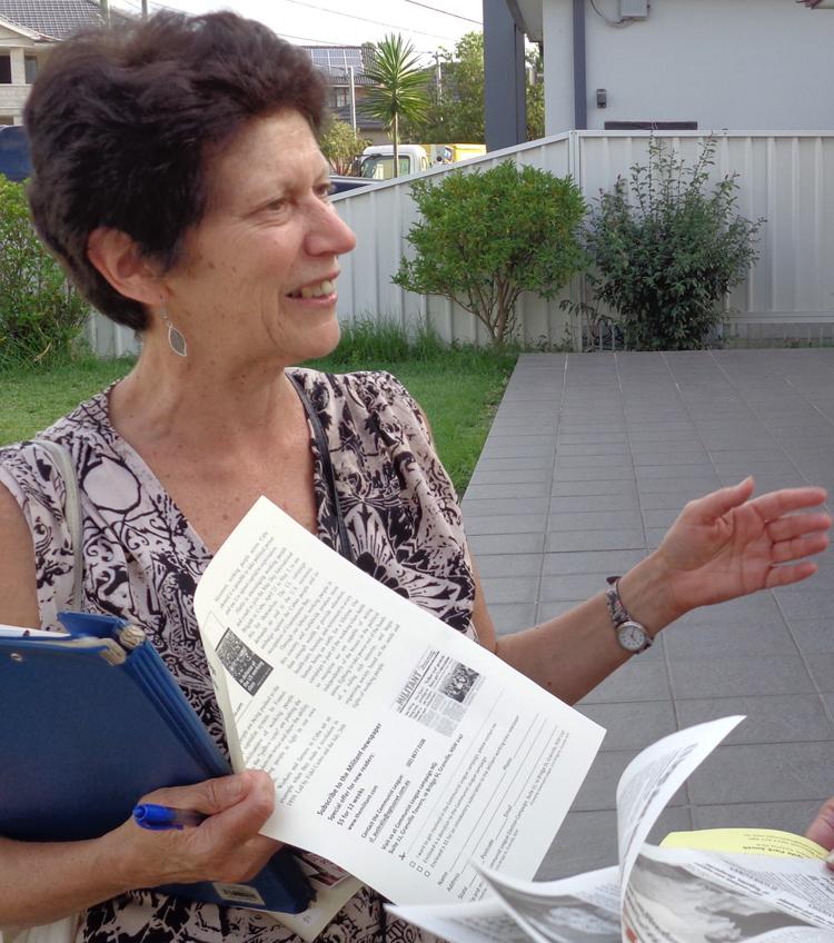 Linda Harris, candidata de Liga Comunista para concejal de Canterbury-Bankstown.