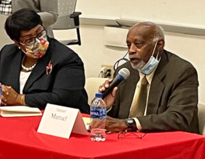 """Working people face """"a crisis of a social system that defends the interests and profits of the wealthy class,"""" Sam Manuel, Socialist Workers Party candidate for Atlanta City Council president, said during Sept. 1 candidates' debate at Clark Atlanta University."""