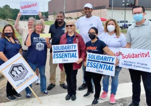 Bakery union picket at Nabisco in Richmond, Virginia, Sept. 10. Strikers in five states stayed strong, brought workers together, won support, showed how unions can make a difference.