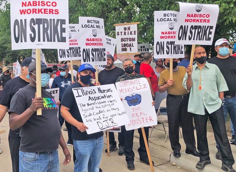 Huelguistas de Nabisco y sindicalistas de Chicago, protestan 4 de sept. para divulgar huelga.