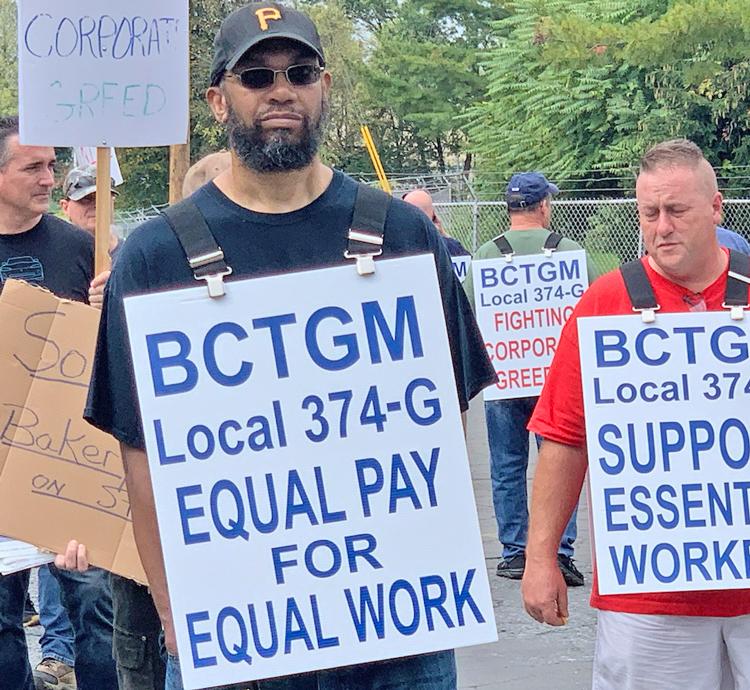 Kellogg strikers in East Hempfield Township, Pa., Oct. 6.
