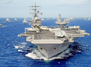 U.S. carrier leads Pacific Ocean naval exercises. Since victory in second imperialist world war, Washington has viewed Pacific as its prize. U.S. rulers are determined to meet Beijing threat.